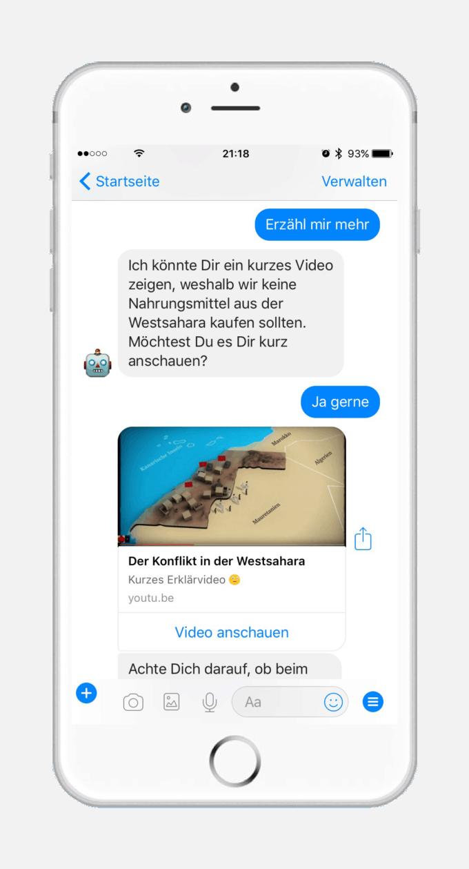 Chatbot Roboterre von terre des hommes schweiz - Sensibilisierung