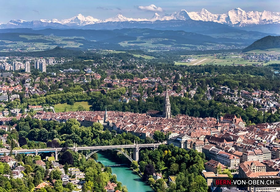 Berne (capital of Switzerland), Credits: bern-von-oben.ch