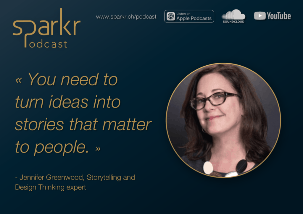 Sparkr Podcast Quote Jennifer Turn Ideas Into Stories